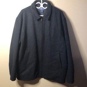 Ralph Lauren full zip grey wool pea coat